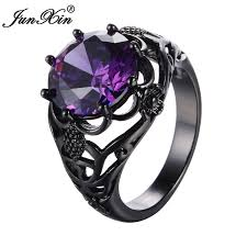 black and purple engagement rings aliexpress buy junxin purple rings for and