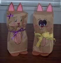 easter crafts paper bag easter bunny