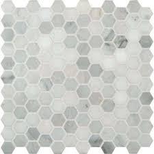 light grey hexagon tile endearing grey hexagon tile of mosaic the home depot writers bloc