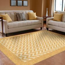 Floor Rugs by Orian Rugs Indoor Outdoor Chevron Stripe Gold Area Rug Walmart Com