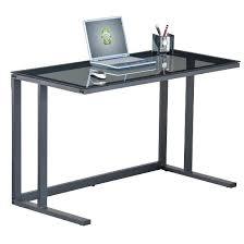 computer desk glass metal computer desk glass glass computer desk in smoked with black metal