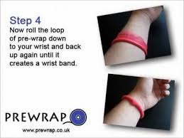 pre wrap headband make a hair bobble tie using pre wrap
