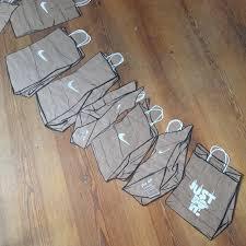 just do it nike brown paper bag oil pastel on brown paper work in