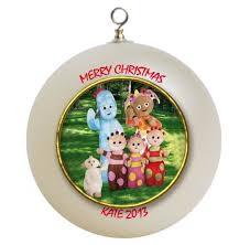 night garden personalized custom christmas ornament