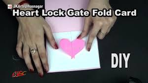 diy heart lock gate fold card for scrapbook how to make jk