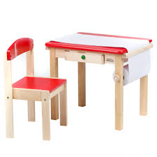 kids art table and chairs wooden kids art table with drawer and red chair of marvelous kids