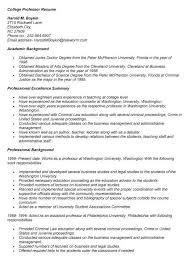 Resume For Lecturer In Engineering College College Professor Resume Sample Faculty Resume Sample Student