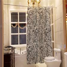 Black And White Vertical Striped Shower Curtain Shower Curtain Black White Stripes Promotion Shop For Promotional