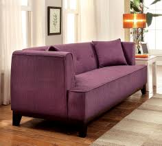 Transitional Style Living Room Furniture Sofia Transitional Purple Fabric Couch Sofa