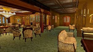 first class lounge a deck titanic sims youtube