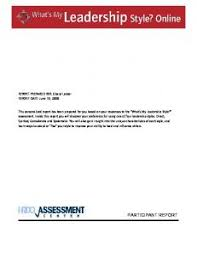 a sample report to view a sample report from this online assessment hrdq