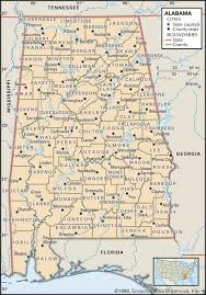 Northeast Georgia Map Alabama Maps And Atlases