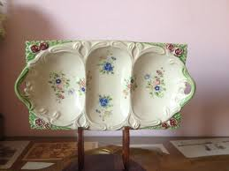 Shabby Chic Soap Dish by Vintage Tray 3 Sections Relish Tray Shabby Chic Ceramic 3