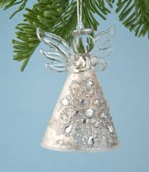 vintage silver glass angel ornament