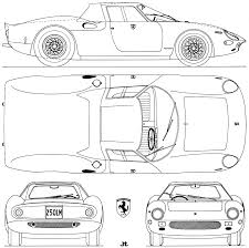 ferrari drawing car blueprints ferrari 250 lm berlinetta blueprints vector