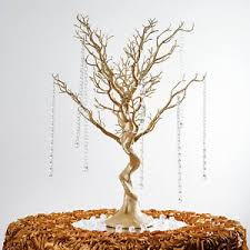 tree centerpieces 30 gold manzanita tree with garlands wedding party centerpieces