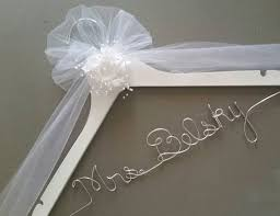 wedding dress hanger personalized wedding hanger for the wedding dress she