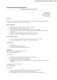 Electrician Resume Example Electrical Resume Sample Journeymen Electricians Resume Sample