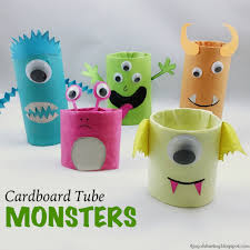 the joy of sharing cardboard tube monsters halloween craft