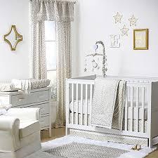 Gray And White Chevron Crib Bedding The Peanut Shell Confetti Chevron Crib Bedding Collection In Gold