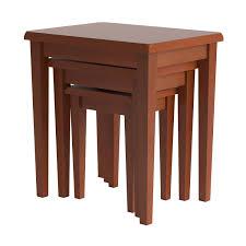 amazon com winsome wood nesting table walnut kitchen u0026 dining