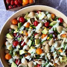 Garden Salad Ideas Mexican Pasta Shells Salad Recipe Reluctant Entertainer