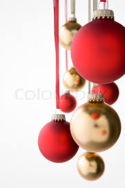 christmas decorations images group of red and gold christmas decorations stock photo colourbox