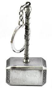 shopee branded thor hammer keychain thor metal keychain thor golden