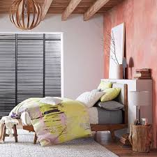 What Is The Best Bed Linen - modern bed linen weave west elm
