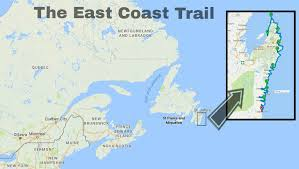 map canada east coast ect thru hike hike 300 km of coastline in eastern canada