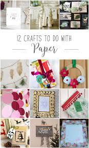 12 crafts to do with paper 12monthsofdiy november paper diy