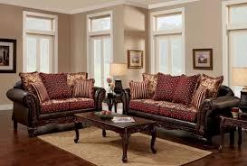 Burgundy Living Room Set Furniture Of America Ellis Brown And Burgundy Living Room Set