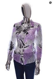 purple silk blouse womens elie tahari sheer silk purple floral blouse buck zinkos