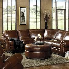leather sofa with nailheads traditional leather sectional with paisley embossed leather and