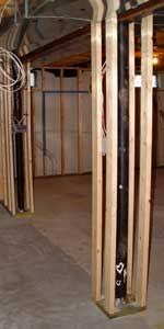 how to frame basement poles to help when framing basement support
