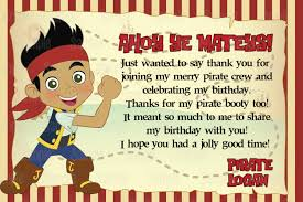 jake and the neverland pirates birthday invites printable jake and the neverland pirates inspired thank you