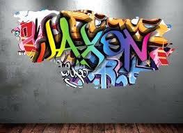 graffiti boys bedroom personalized graffiti wall art graffiti boys urban art photo
