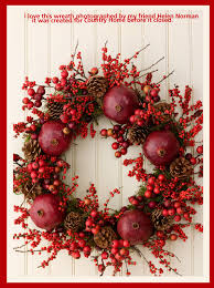 what a festive natural christmas wreath christmas decorating