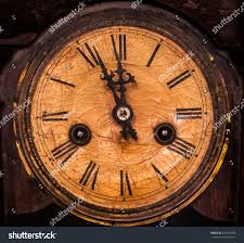 old vintage wooden wall clock hanging stock photo 347787878