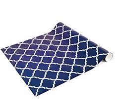 blue quatrefoil wallpaper lockerlookz locker wallpaper navy quatrefoil print amazon com
