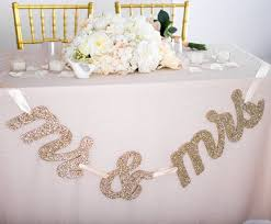 table banners and signs mr and mrs table banner signs for wedding table mr and mrs letters
