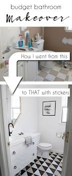 updating bathroom ideas the 25 best budget bathroom makeovers ideas on budget