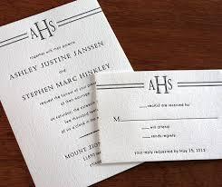 monogram wedding invitations custom wedding invitation monograms invitations by ajalon