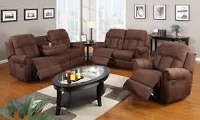 3pc modern rocker recliner sofa cup holder couch loveseat chair