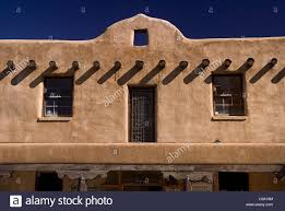 Adobe Style Home Usa New Mexico Taos Typical Adobe Style Architecture Stock