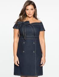 off the shoulder sweetheart denim dress women u0027s plus size