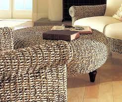 rattan round ottoman coffee table tag woven ottoman round