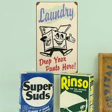 Laundry Room Decor Signs Laundry Drop Your Here Metal Sign Vintage Signs