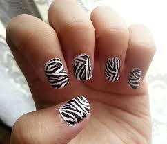 zebra print nail art gallery nail art designs