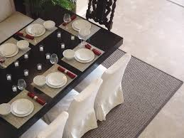 Dining Room Rug Ideas by Simple Candle Holder Side Tableware On Square Black Table Fit To